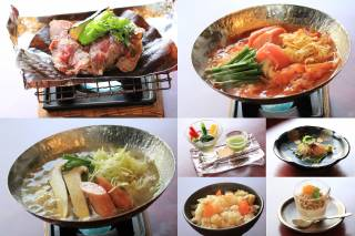 ▲『四季のおまかせ懐石料理』(写真は一例です。)